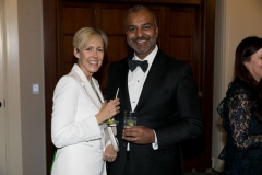 Senior Vice President of Eye Care for Allergan, Jag Dosanjh, with his wife