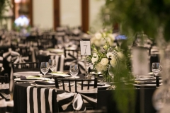 Black and white accents all around