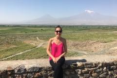 Ellen Mt Ararat at Khor Virap