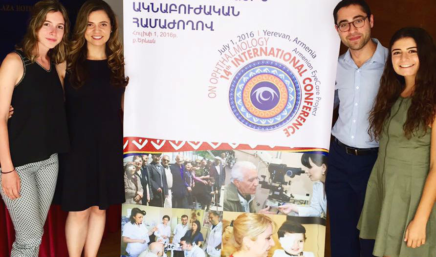 Nairi Rostomian, right, with three other AECP Medical Observers during our 52nd Medical Mission to Armenia