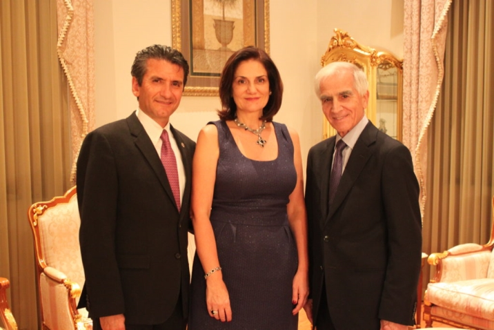 Glendale hosts Dr. Khodam Rostomian and wife Dr. Carmen Ohanian with Dr. Ohanesian.